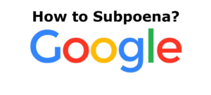 GOOGLE NORTH AMERICA INC subpoena